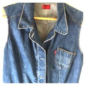 Levis denim dress size small S 4